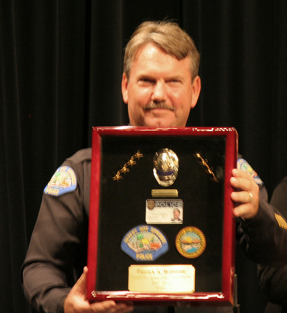 Chief Williams and his gift from the city council (6519)