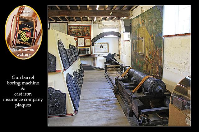 Gun barrel borer - Lewes Gallery - Anne of Cleves House - Lewes - 23.7. 2014