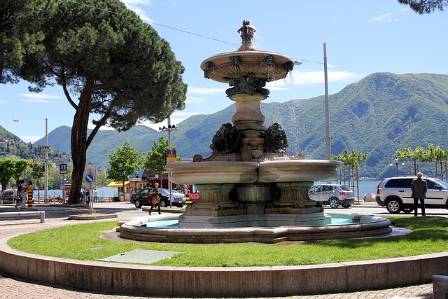 Brunnen in Lugano am See
