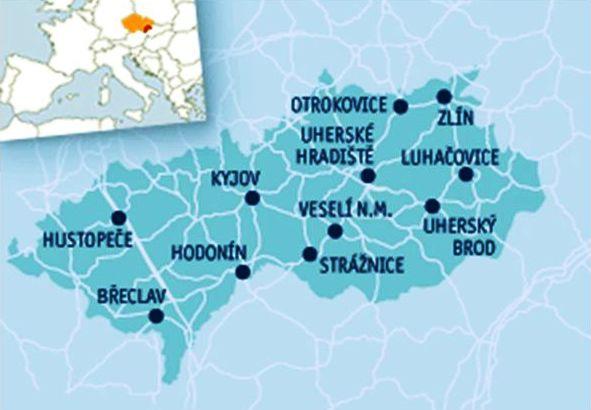 Moravia-Slovakio - mapeto