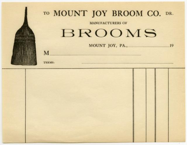 Mount Joy Broom Company, Mount Joy, Pa.