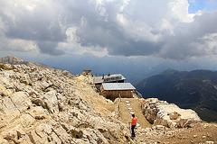 geschafft -  Ziel Pisahütte ist erreicht
