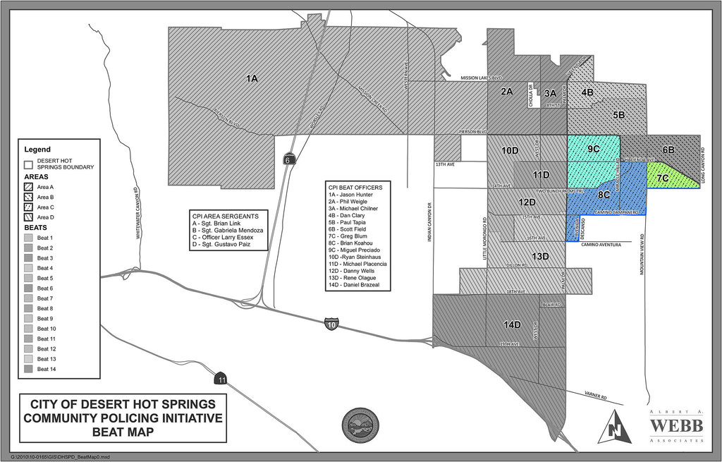 DHS Police Beat Map - Area-C