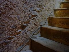 Escalier du donjon M / The M keep's stairs - 28 août 2012.