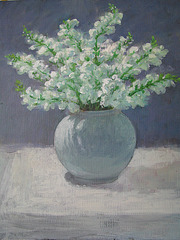 Flower-pot (unfinished)=Florpoto (ne finita)_oil on canvas_45.5x38cm(8f)_2012_HO Song