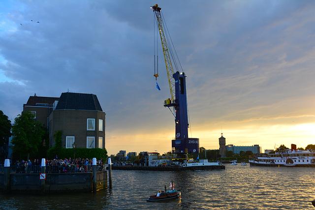 Dordt in Stoom 2014 – Vlootschouw – Floating crane Ahoy 50