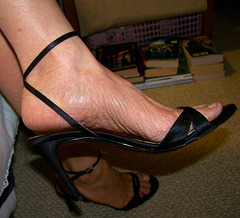 wife in ann taylor heels