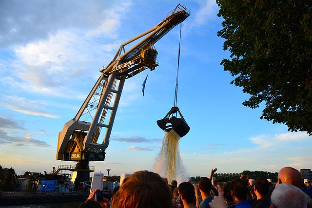 Dordt in Stoom 2014 – Vlootschouw – Floating crane Ahoy 25