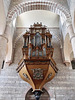 P6047190ac Tournus St Philibert Romanesque Abbey Swallow Nest Shaped Grand Organ