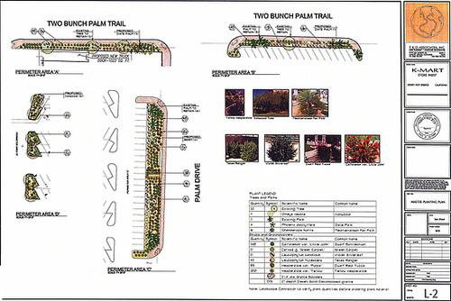 KMart Rio Ranch Landscaping Plan detail