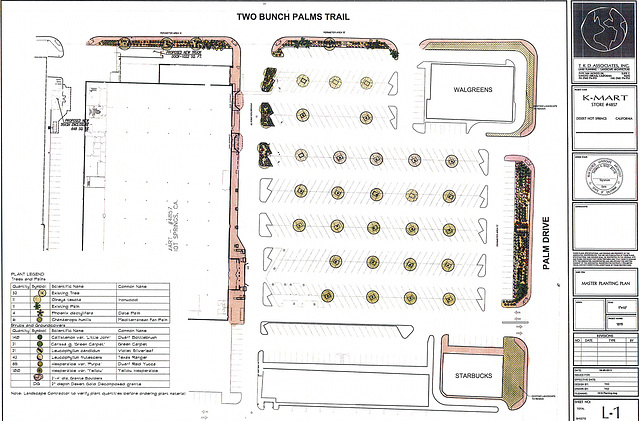 KMart Rio Ranch Landscaping Plan