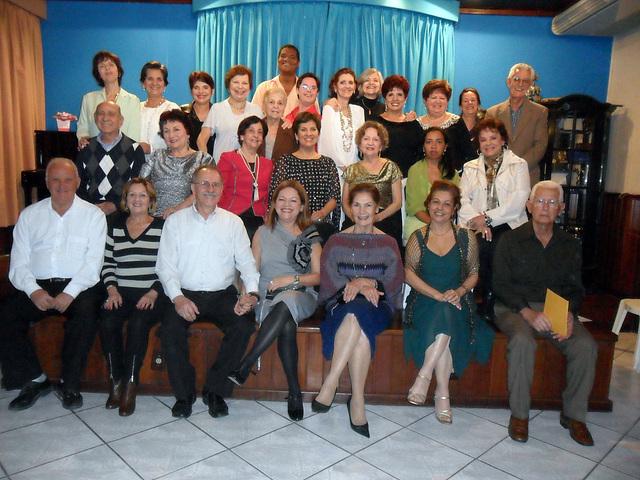Participantes do recital Canto de Fé, no CCMS