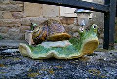 Escargot en faïence