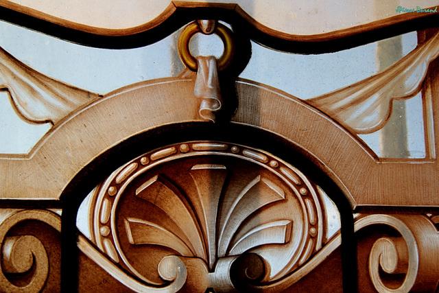 Au musée de Condé - Partie d'un vitrail