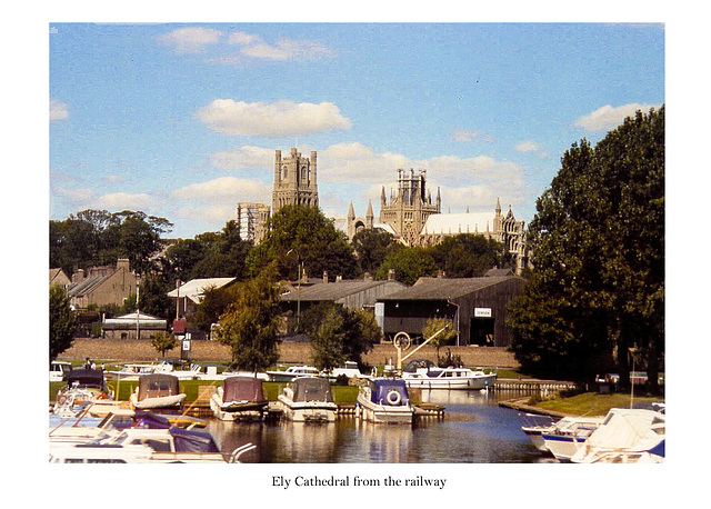Ely Cathedral from the railway