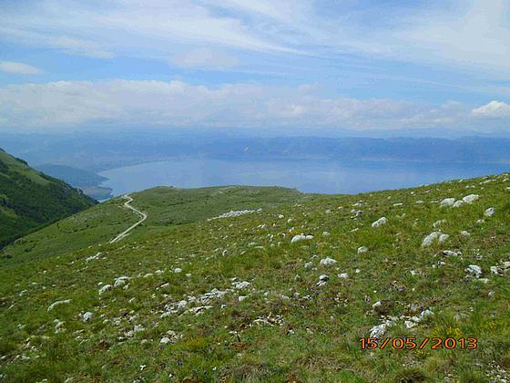 Lago Ohrid okcidente