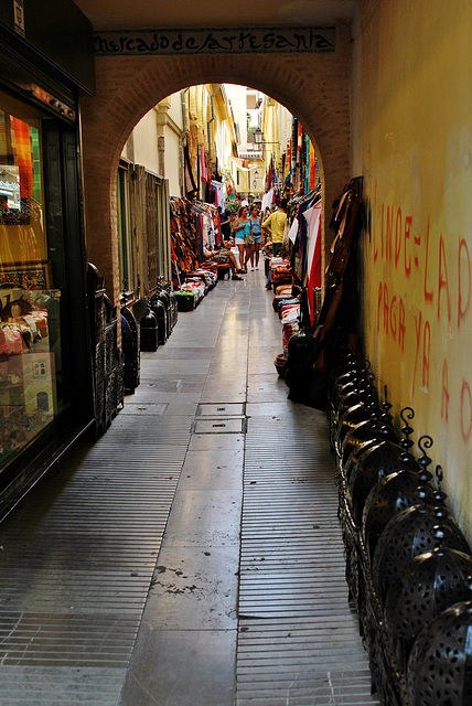 Zoco árabe de Granada. Alcaicería