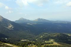 Blick auf das Weisshorn und Schwarzhorn
