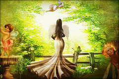 regard vers la lumière, vers un monde d'amour