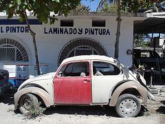 Laminado y pintura VW / Cox mexicaine en décrépitude.