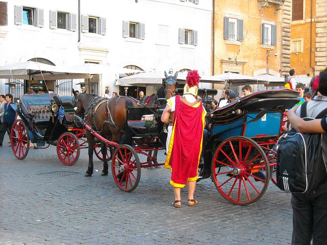 Centurione e carrozzella.
