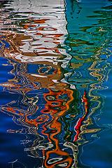 Un autre reflet dans le canal Baussengue...............on black.