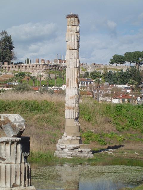 les colonnes du temple d'Artémis Éphèse (Turquie )
