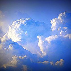 PANTA REI - alles ist im Fluß - Wolken über dem Osterzgebirge - PANTA REI - ĉio fluas - nuboj sur la montaro