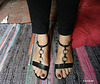 Dame / Lady Christine - Sandales sexy sur tapis  / Sexy feet in flat sandals on carpet - 25 août 2012.