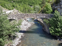P6097542ac The Pont Saint-Roch, Old Bridge or Lower Bridge of Colmars-les-Alpes