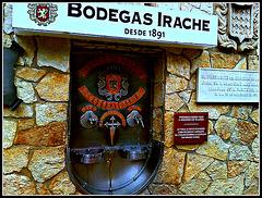 Ayegui (Navarra): fuente del vino.