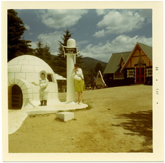 Shivering at the North Pole, Santa's Village, Jefferson, N.H., 1969
