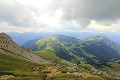 Abstieg nach Obereggen