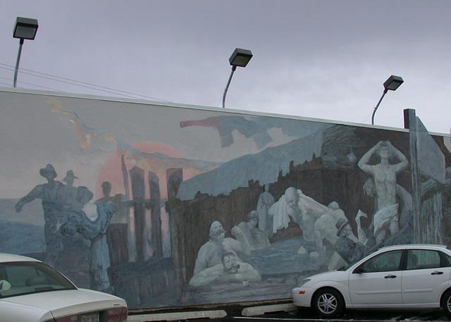 Ely, NV Miner's hot tub mural