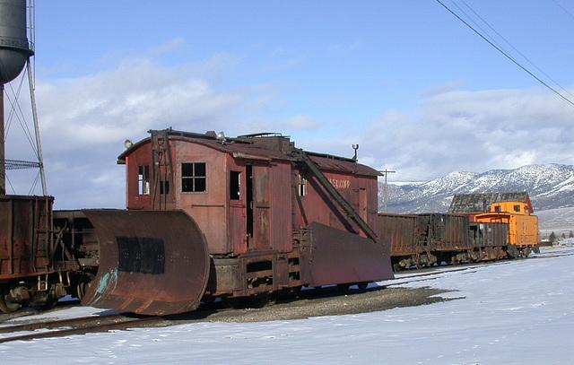 Nevada Northern Railroad Snowplow