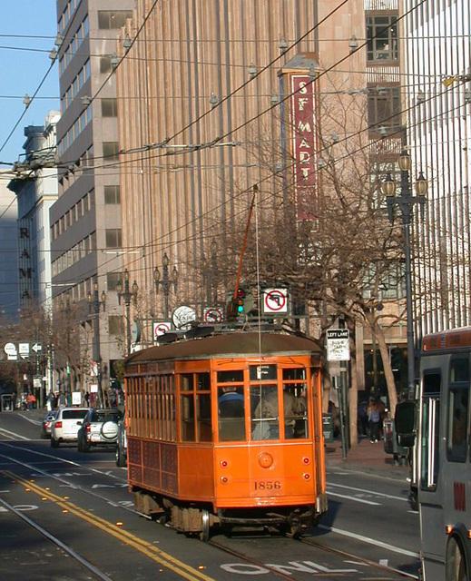 SF downtown: Trolley
