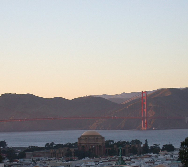 SF Pacific Heights: sunset