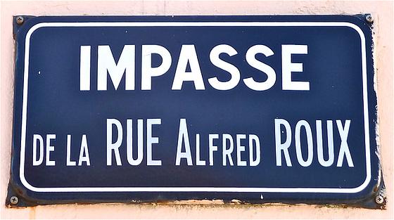 Sakstrato de la strato Alfred Roux en La Chaume