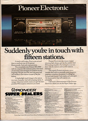 Pioneer Car Audio Advert - Car Magazine August 1979