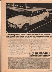 Subaru Estate Advert - Car Magazine August 1979