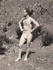 man in loincloth or tanga. 1920'