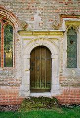 Wyddial church, north door