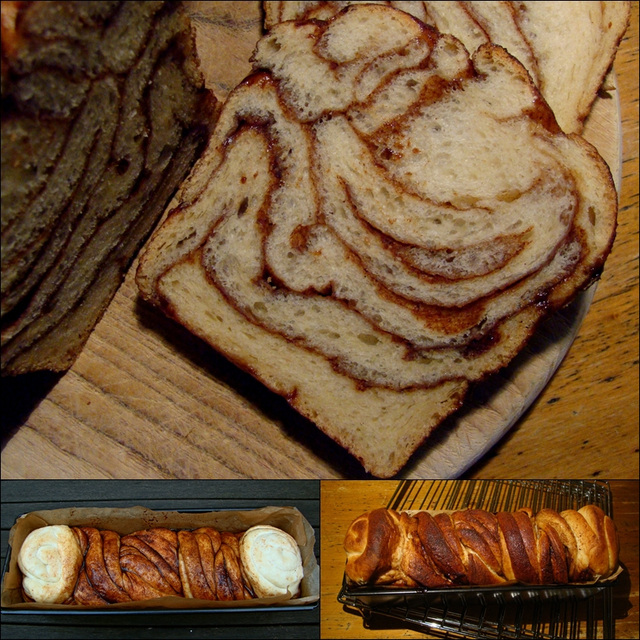 A sweet (cinnamon/brown sugar) Russian braid (sorry! no rose!) baked as a buddy  with the BBB's on World Bread Day!