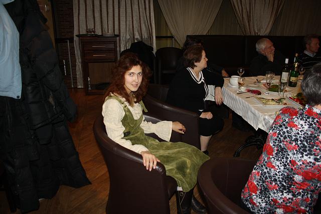 Anna Striganova dum la festo okaze la 20-jariĝon de eldonejo Impeto