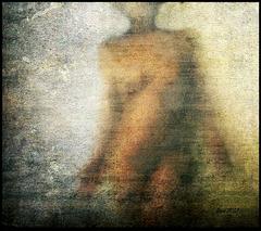 woman in dust