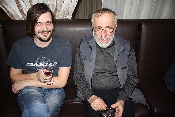 Dima kun Mikaelo dum la festo okaze la 20-jariĝon de eldonejo Impeto