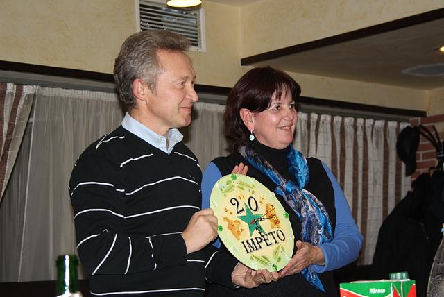 Alekseo kaj Marina gratulas okaze de la 20-jariĝo de eldonejo Impeto