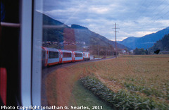 View from the Glacier Express, Picture 10, Unknown location, Goms District, Switzerland, 2011