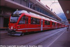Rhaetian Railway #3505, Chur Station, Picture 2, Chur, Plessur District, Switzerland, 2011