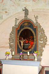 Altarbildo kun Jesuo Kristo kaj anaro ĉe la Sankta Manĝo